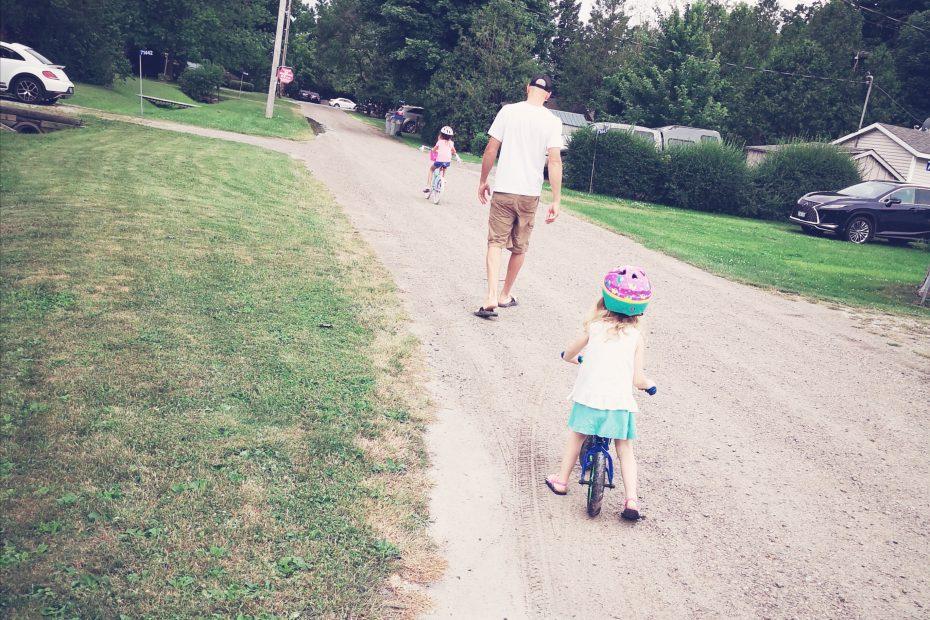 my family biking