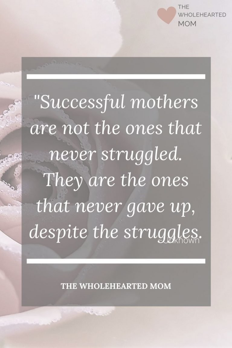new mom quote about not giving up despite struggles