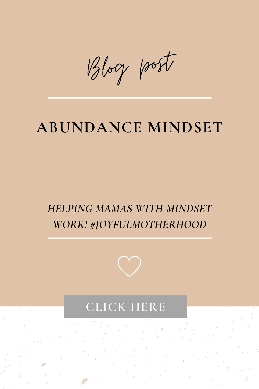 abundance mindset work for moms!