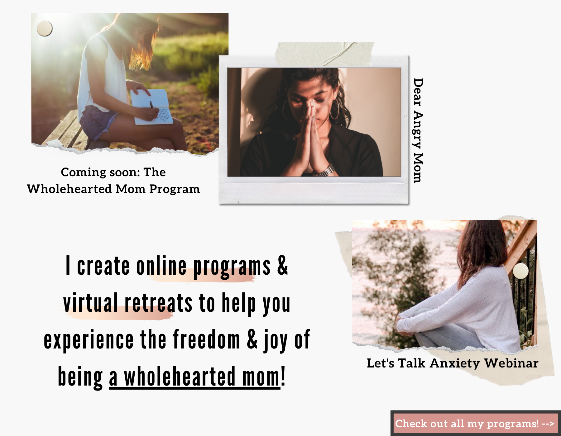 The Wholehearted mom Programs and virtual retreats for moms