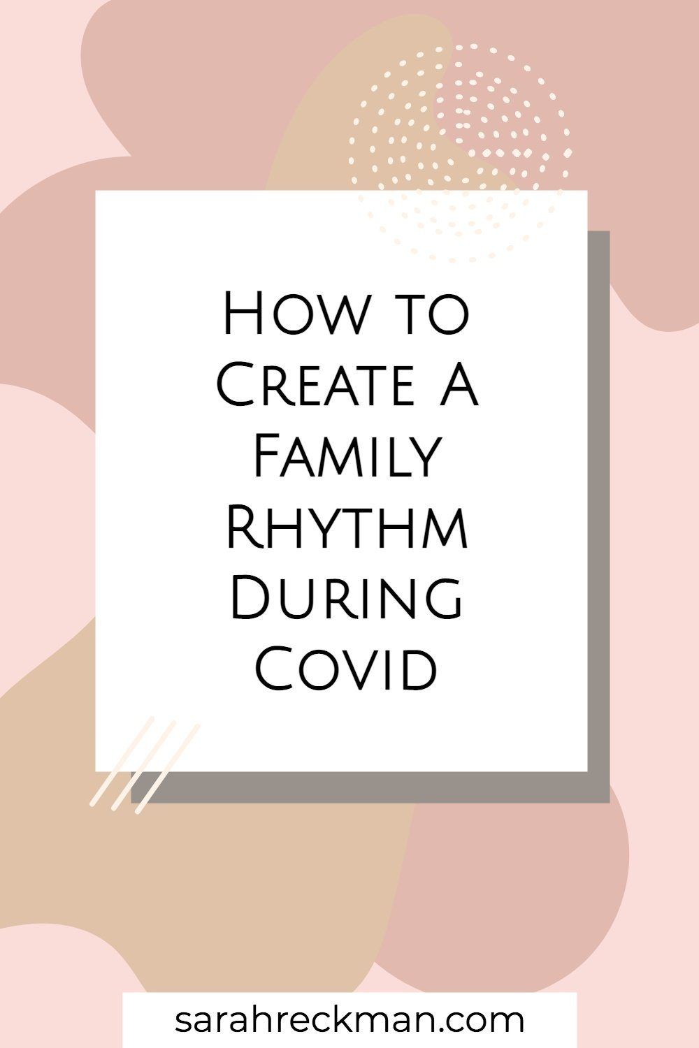 creating a workable family rhythm for a working mom